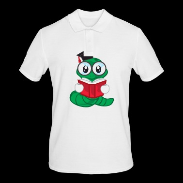 Worm Little Worm Child Book Green Hat Clever Gift - Men's Polo Shirt