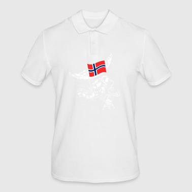Norway conquers space Scandinavia flag - Men's Polo Shirt
