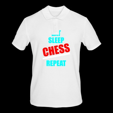 Chess eat sleep repeat checkerboard - Men's Polo Shirt