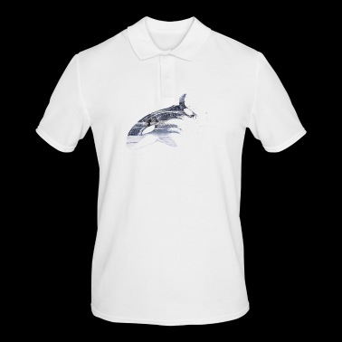 Save the whales animal welfare pollution - Men's Polo Shirt