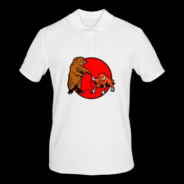 Bear against cop - Men's Polo Shirt