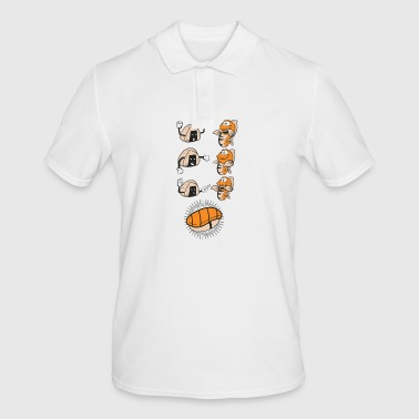 Sushi Evolution Funny Fish Rice Association - Mannen poloshirt