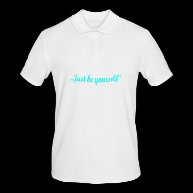be yourself bow - Men's Polo Shirt