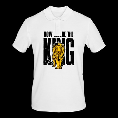 Lion Bow Before the King Lion gift - Men's Polo Shirt