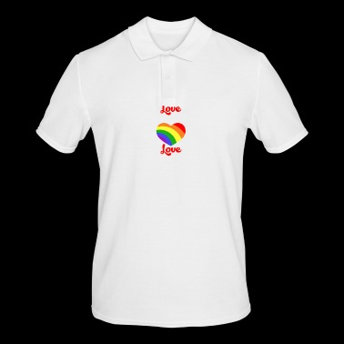 Gay Lesbian Rainbow LGBT Gay Pride Gift - Men's Polo Shirt