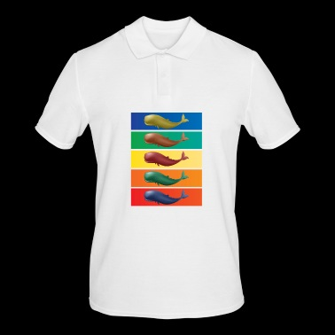 Whales - Mammals - pop art - Men's Polo Shirt
