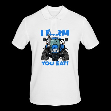 I farm you eat NH - Men's Polo Shirt
