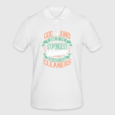 Cleaner cleaning lady cleaning job profession - Men's Polo Shirt