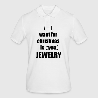 Christmas song saying jewelry - Men's Polo Shirt