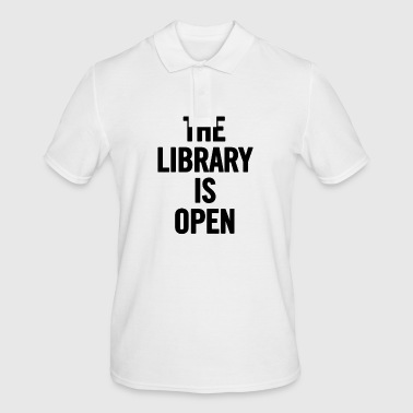 The Library Is Open Black - Men's Polo Shirt