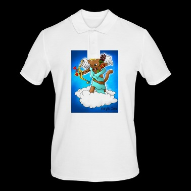Valentijnsdag Brown Cupid Cat - Mannen poloshirt