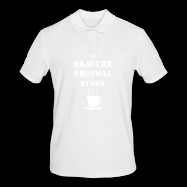 First time coffee white - Men's Polo Shirt
