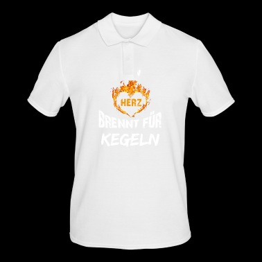 Gift T-shirt Heart burns skittles - Men's Polo Shirt