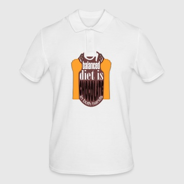 chocolate diet - Men's Polo Shirt