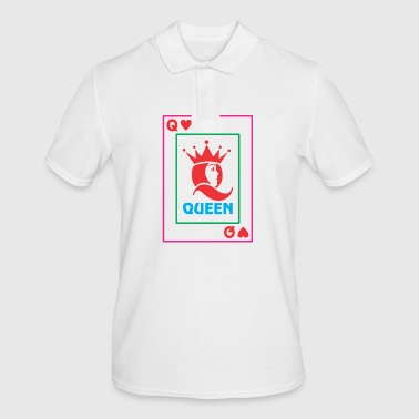 QUEEN playing card - Men's Polo Shirt