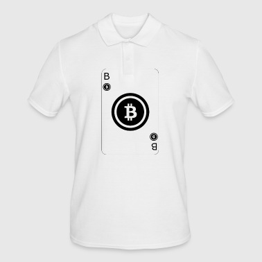 Bitcoin jouer carte Card Game - Polo Homme