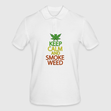 Keep Calm and Smoke Weed - Men's Polo Shirt