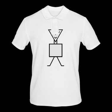 stick figure - Men's Polo Shirt