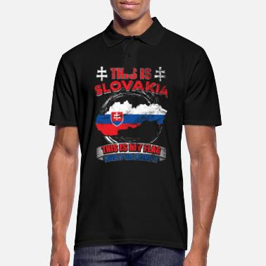 Europe This is Slovakia. This is my flag - Men's Polo Shirt