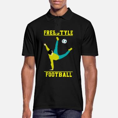 Football Freestyle Football Racquet Volley Gift - Men's Polo Shirt