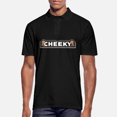 Cheeky Monkey Cheeky Naughty Monkey Monkey Cute Funny Gift - Men's Polo Shirt