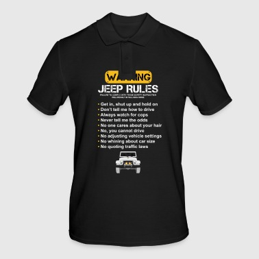 Warning Jeep Rules - Men's Polo Shirt