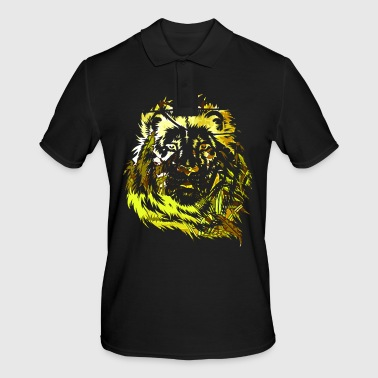 Lion animal animals jungle safari gift - Men's Polo Shirt