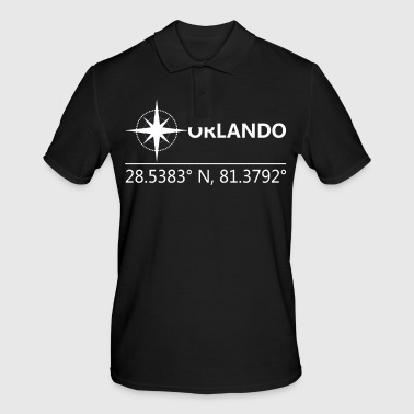 Geographic Orlando America Geographic coordinates - Men's Polo Shirt
