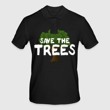 Recycling Save The Trees - Männer Poloshirt