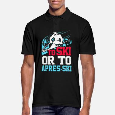 Skies Skiing Skiing Skiing Skiing Skiing - Men's Polo Shirt