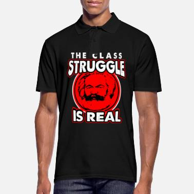Class Struggle Communism Lenin Stalin Marx class struggle social - Men's Polo Shirt