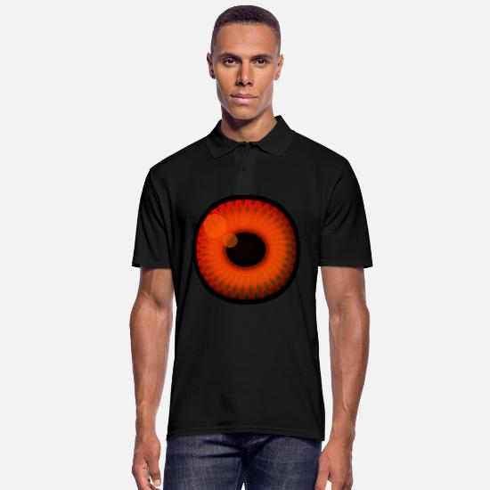 Eye Polo Shirts - Pupil Eye Iris Trend Optic Eyeball Gift - Men's Polo Shirt black