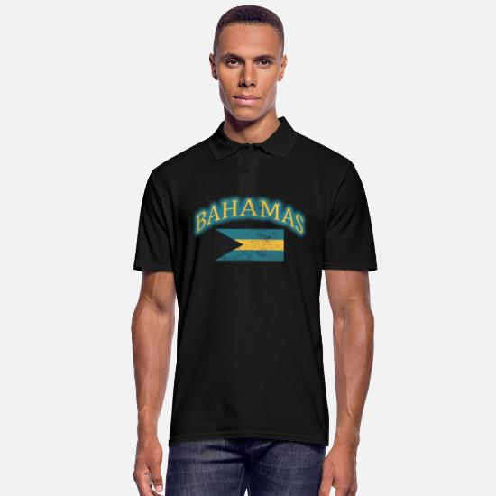 Gift Idea Polo Shirts - Bahamas Nassau Palm Holiday Vacation Gift - Men's Polo Shirt black