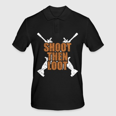 Scar shooting and collecting prey Fortnit - Men's Polo Shirt