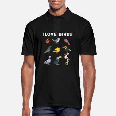 Coole I Love Birds Ornithologe - Männer Poloshirt