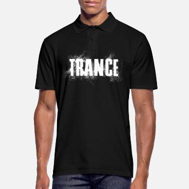 Trance Music trance party spray effect white passion - Men's Polo Shirt