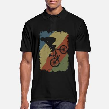 Cycling BMX Freestyle Vintage Rider Stunt - Men's Polo Shirt