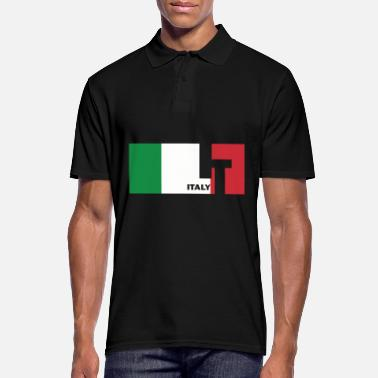 European Union Italy flag flag Italian gift - Men's Polo Shirt