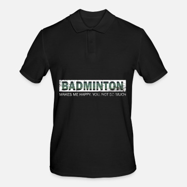 Sister Badminton Shuttlecock Happy Springs Gift - Men's Polo Shirt