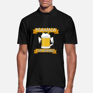 Thirst Quencher Manna from the sky funny angel's beer gift - Men's Polo Shirt