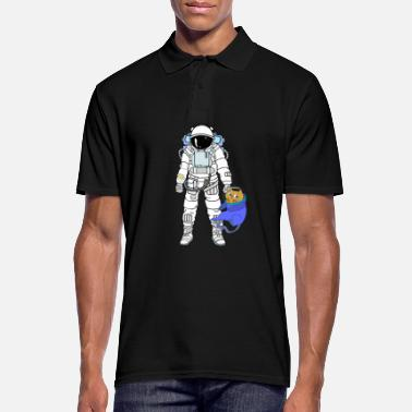 Astronaut Astronaut with astronaut cat - Men's Polo Shirt