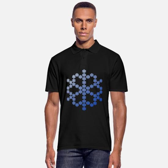 Snowflake Polo Shirts - Snowflake from Snowflake Snowflakes - Men's Polo Shirt black
