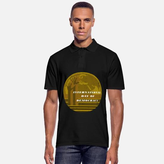 Gift Idea Polo Shirts - Democracy Festival Day of Remembrance Germany Election UN - Men's Polo Shirt black