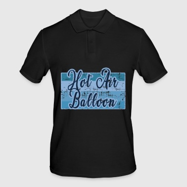 Girl Great vintage hot air balloon ballooning gift - Men's Polo Shirt