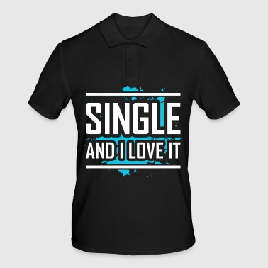Single Solo Flirt Party Flirting Lonely Gift - Koszulka polo męska