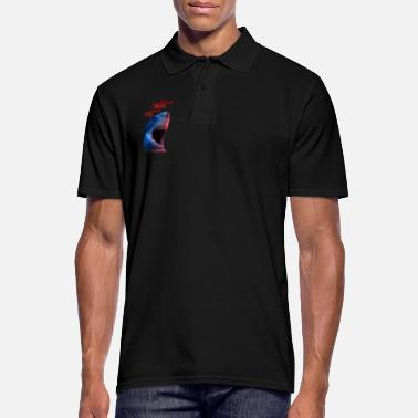 Great White shark. Either you are a shark or you are a fish - Men's Polo Shirt