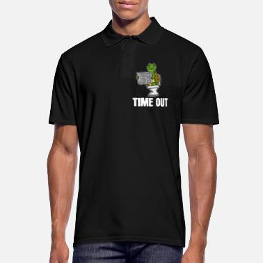 Bathroom Turtle, animal, time out, newspaper, toilet, gift, loo - Men's Polo Shirt