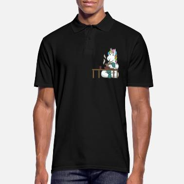 Girlfriend Unicorn mythical creatures eat gift asian noodles - Men's Polo Shirt