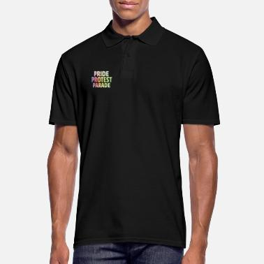 Powerslogan Pride Parade Protest Rainbow Points Powerslogan - Men's Polo Shirt
