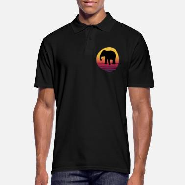 Serengeti Elephant Africa Serengeti - Sunset - Men's Polo Shirt